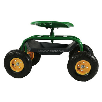 TC1853 Rolling Garden Scooter Seat Cart