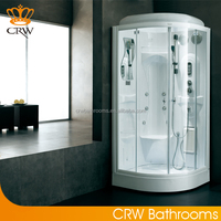 Sector sliding glass door shower cabin with acrylic back CRW BF127