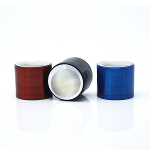 2018 Good quality 4 Layers 40mm zinc alloy rainbow herb grinder with tobacco pattern