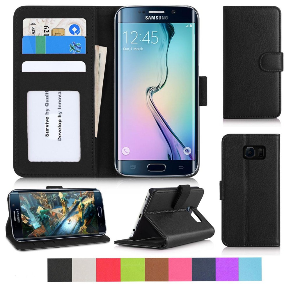 New arrival premium flip leather mobile phone case for Samsung S7 Edge