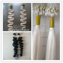 different type Indian remy human Hair Micro-ring Hair Extension