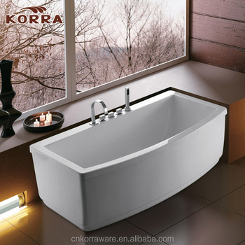 artificial stone bathroom freestanding soaking bathtub,good quality