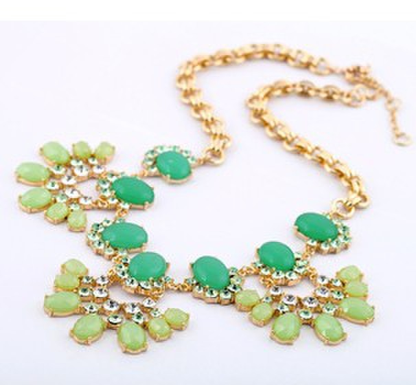Western style fashion accessories Free DHL 10pcs/lot 2013 New product High-end emerald flower necklace
