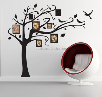 Family Tree Frames For Wall family tree layout decal vinyl wall sticker photo frame - buy