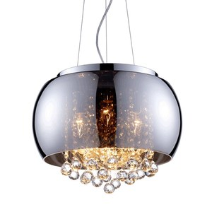 Modern glass cristal ball pendant light industrial minimalist project chain chandelier for home hotel lobby