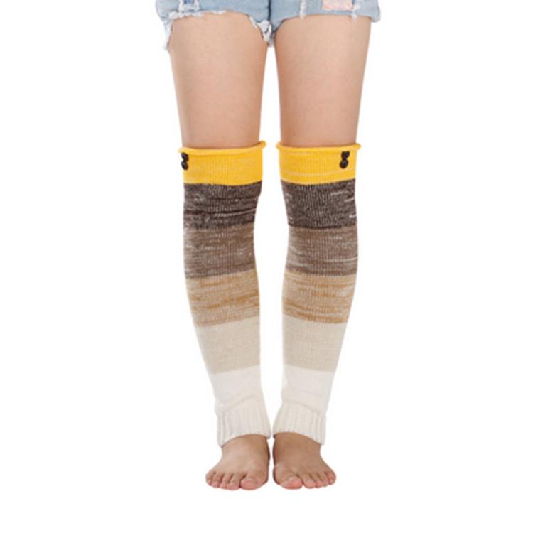 Tobillo calcetines Womens ganchillo invierno calentador de la pierna ...