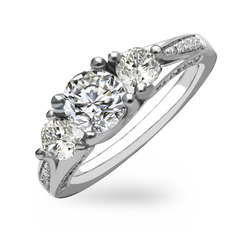 V-00352# Sterling Silver 925 Wedding Ring With Simulated Diamond Stone CZ for brand jewelry