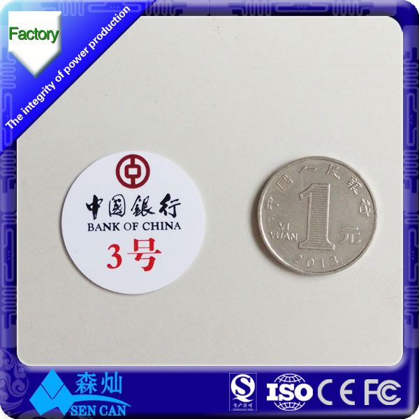 22*22mm paper/pvc/pet rfid nfc tag printable stock a lot