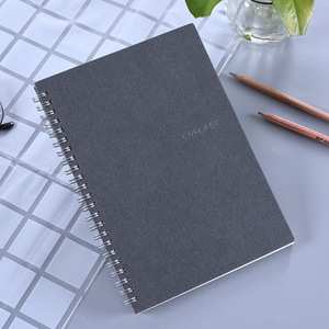 White cardboard loose-leaf coil notebook customization
