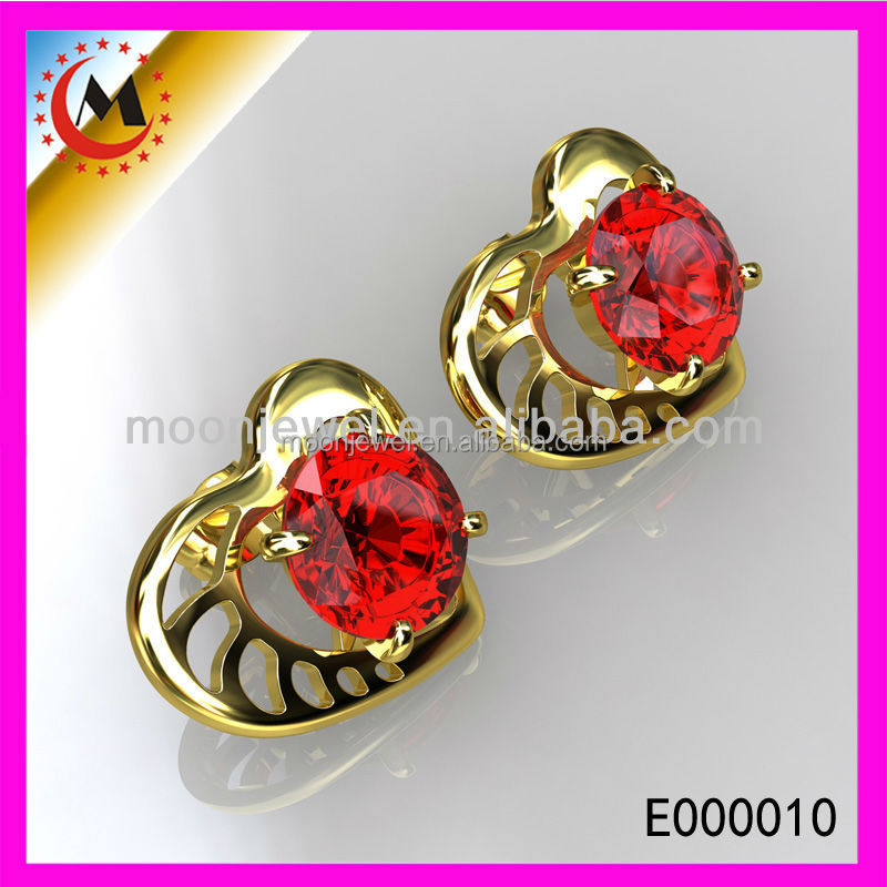 CUTE EAR PIERCING HEART SHAPE,PAVE ZIRCON EARRINGS,CHEAP WHOLESALE STUD EARRINGS