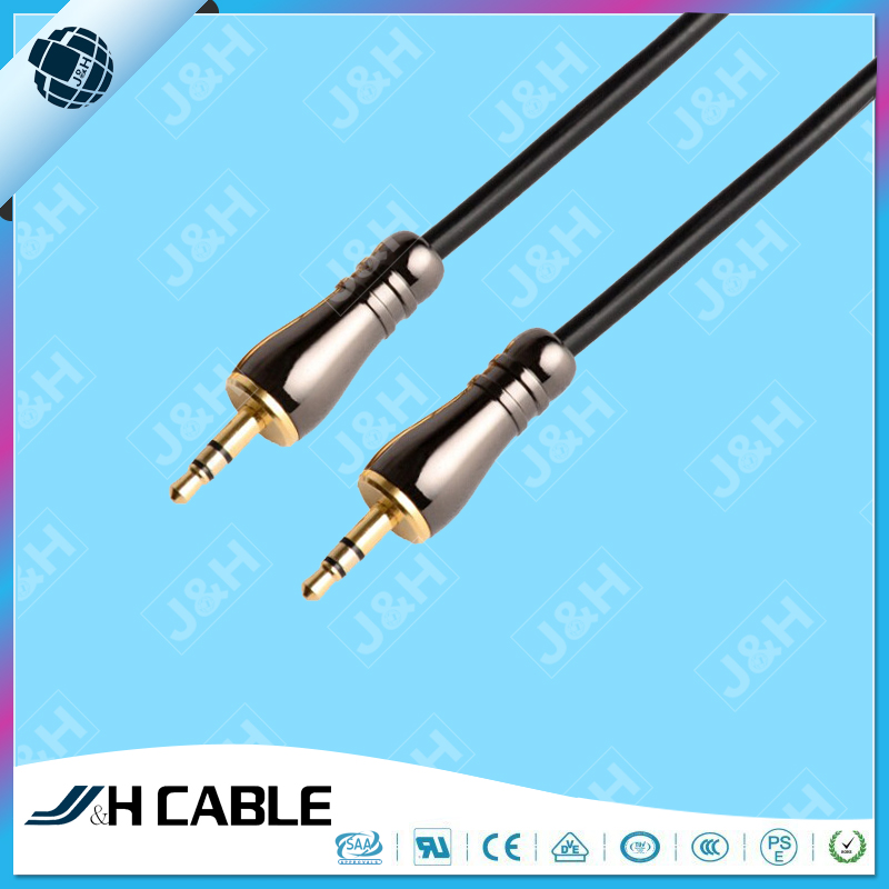 Car Aux Cable Audio Cable 3.5mm Male-Male Metal Apple Shape