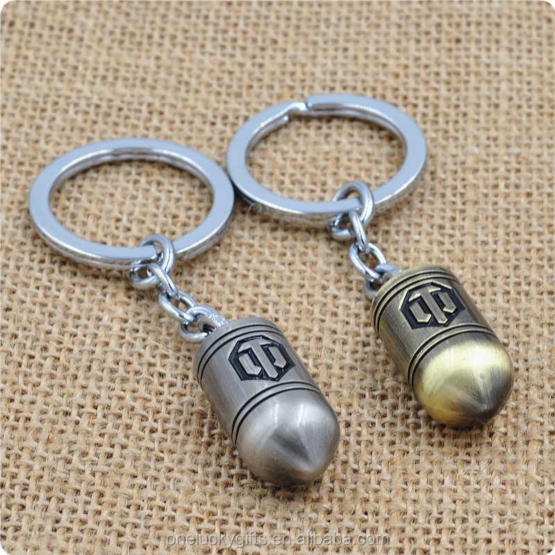 World of Tanks Bullet Shell Metal Keychain/ KeyRing oneluckygifts H 025