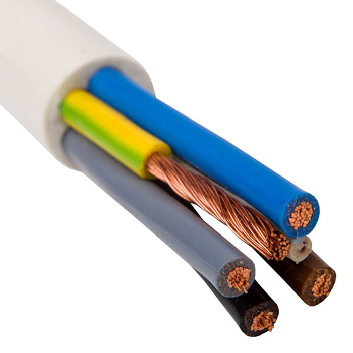 Flexible Copper Wire Pvc Insulated 3 Core 1mm H05vv-f Wire Cable ...
