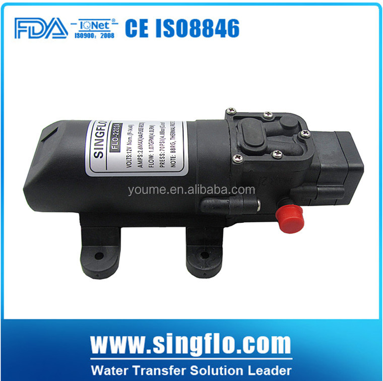 SIngflo hot sale Mini battery operated water pimps/ sprayer pumps for agriculture/ self printing pump;