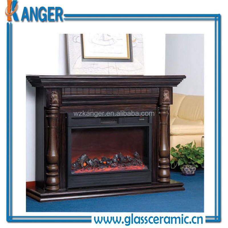 Big Ceramic Glass Fireplace Doors