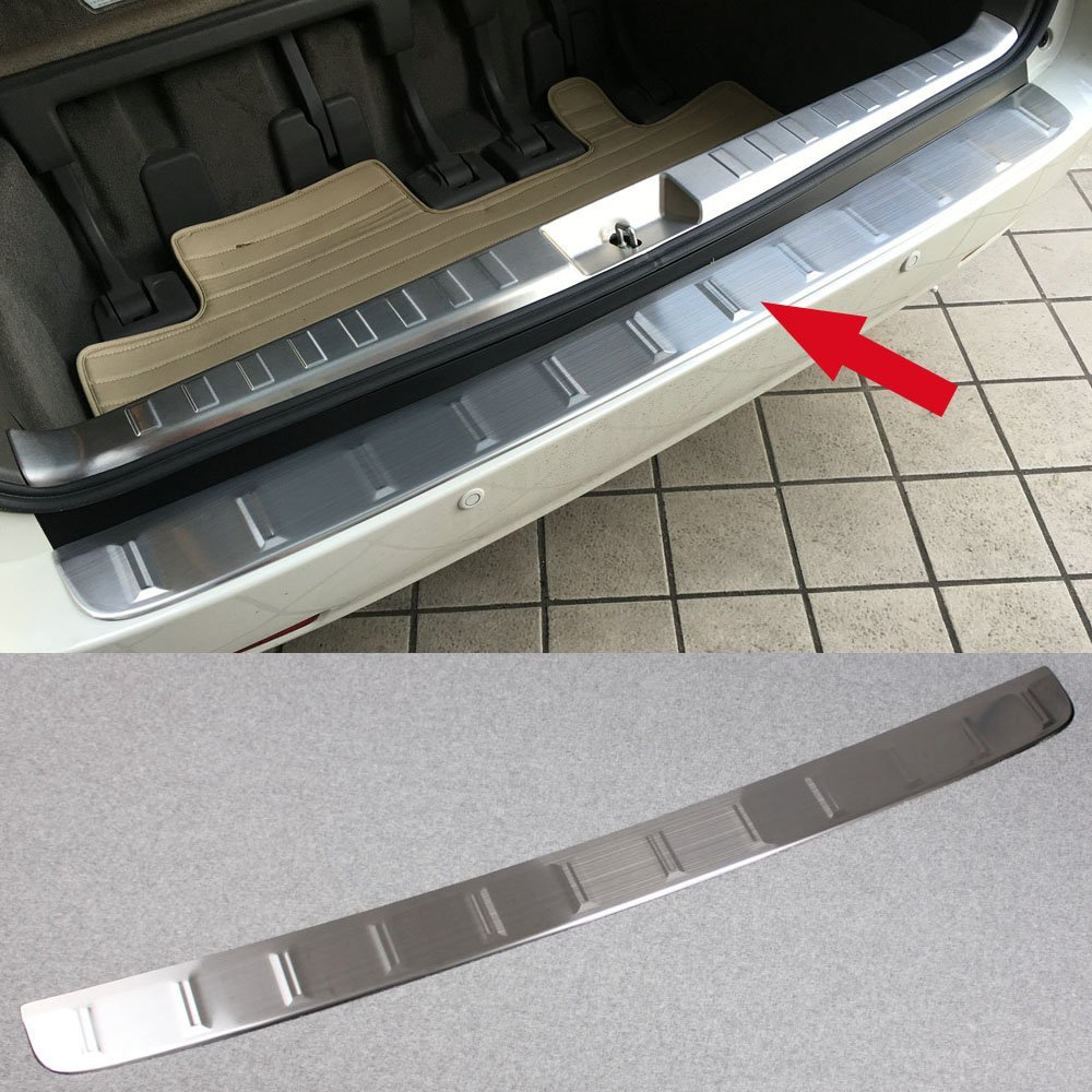 Generic Stainless Steel Outside Rear Bumper Sill Plate Guard Cover Fit For Toyota Sienna 2015 2016 2017