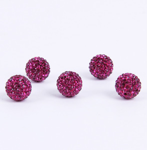 Clear 4mm Shamballa resin jewelry charm crystal bead Czech Rhinestones Pave Clay Round Disco Ball Beads