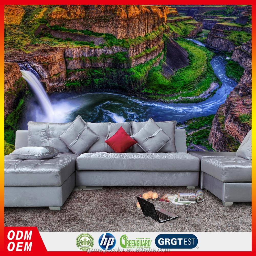 Cascada paisaje papel pintado de la decoraci n casera en for Papel pintado paisajes