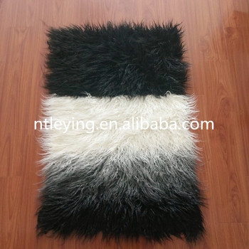 Hot Ombre Mongolian Faux Fur Sheepskin Rug Gy Rugs Flokati Chair Carpet Home Decoration