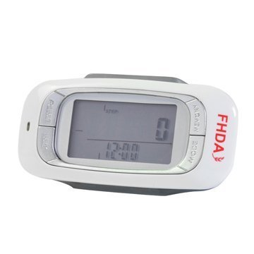 Get Quotations · FHDA Ep-800 White 7-day Memory 3D Sensor Pedometer With  Target Steps Function