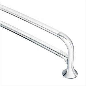 Moen YB9222CH Fina 24-Inch Double Towel Bar, Chrome