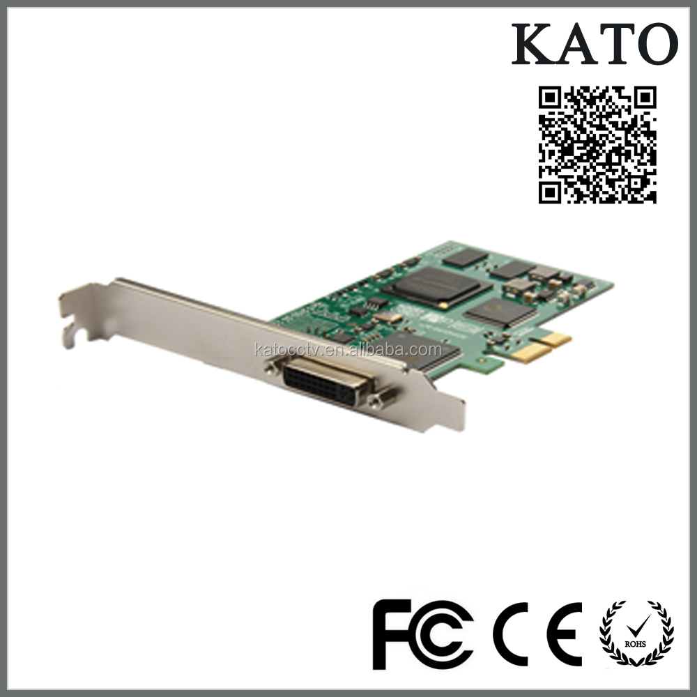 Hotselling 4 Channel PCI-E Express CCTV Video Capture Card For Security Cameras and video conference cameras