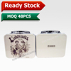Wholesale Mini Tin Handbags / Tin Gift Packaging , rectangle Lunch tin Box
