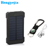 2016 water-resistant shock-resistant and dust proof solar phone charger equipped with compass and LED flashlight for outdoor