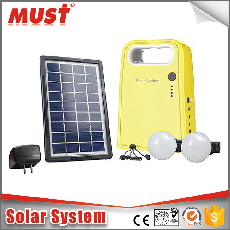Solar lighting kit system 5w 10w 20w 30w 50w for mini home lighting with mobile phone charger for the Middle East , Africa
