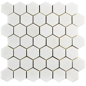 2 Inch Thassos White Marble Hexagon Kitchen Backsplash Mosaic Tiles