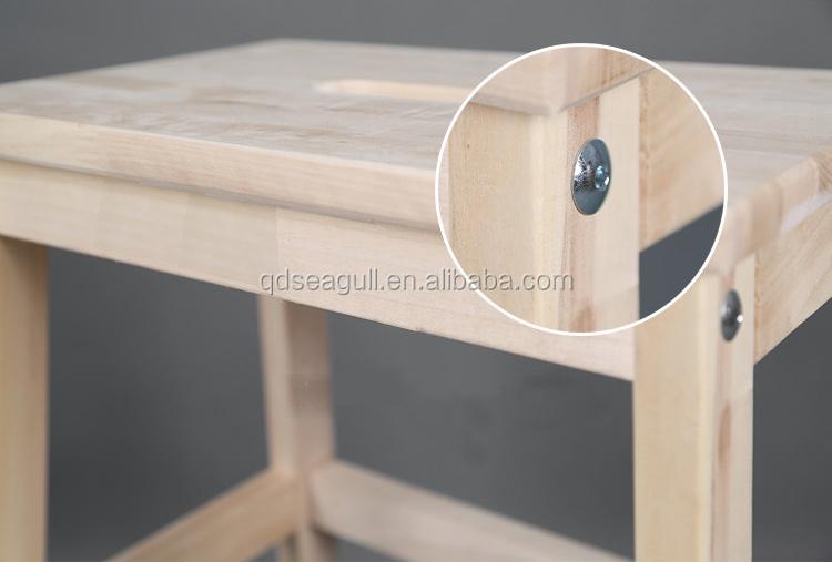 Sgabello alto in legno impiallacciato con schienale con