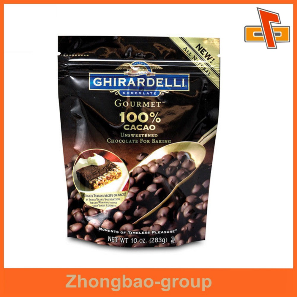 Custom label plastic bags stand up pouch for coffee packing