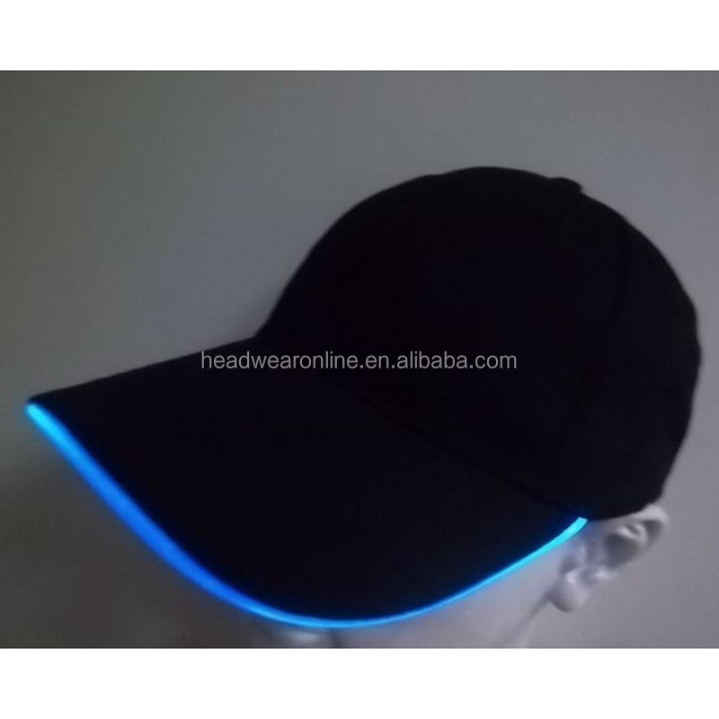Cap With Built In Led Light Flashing Caps Fiber Optic Hats Led