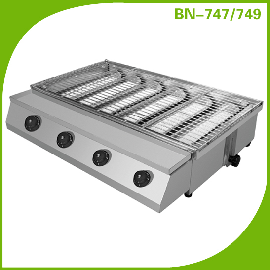 Industrial Smokeless Gas Bbq Grill With 6 Burners Bn-747