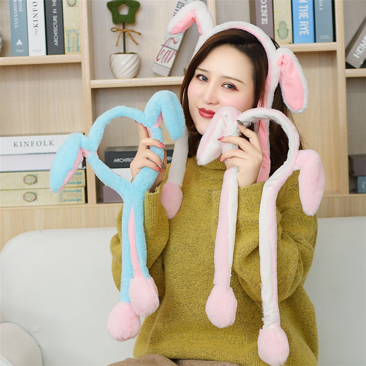 Moving Cute Rabbit Ear Hat Can Move Airbag Magnet Hat