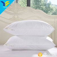Soft white plain cotton fabric home wholesale pillow inserts feather goose down bed pillow