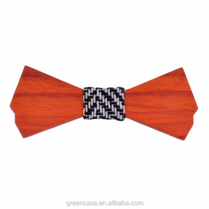 Wholesale Wooden Bowtie with Carton Boxes for Christmas Gift