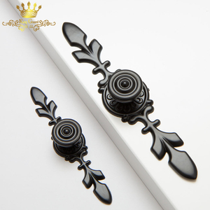 high quality zinc alloy kitchen cabinet drawer black door pull handle