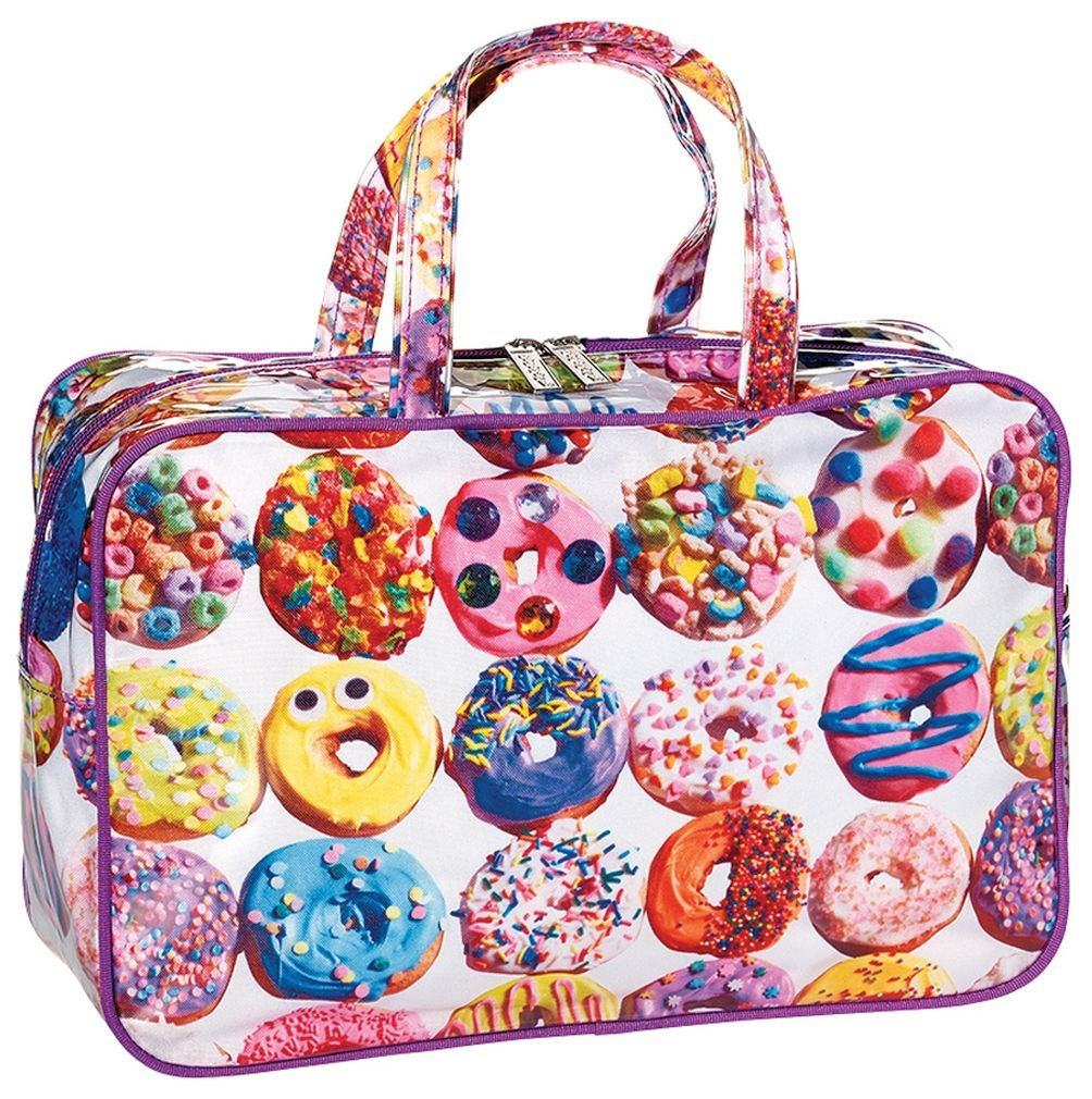 """iscream 'Dozens of Donuts' 12.25"""" x 8.25"""" Double Handle Zippered Cosmetic Bag"""