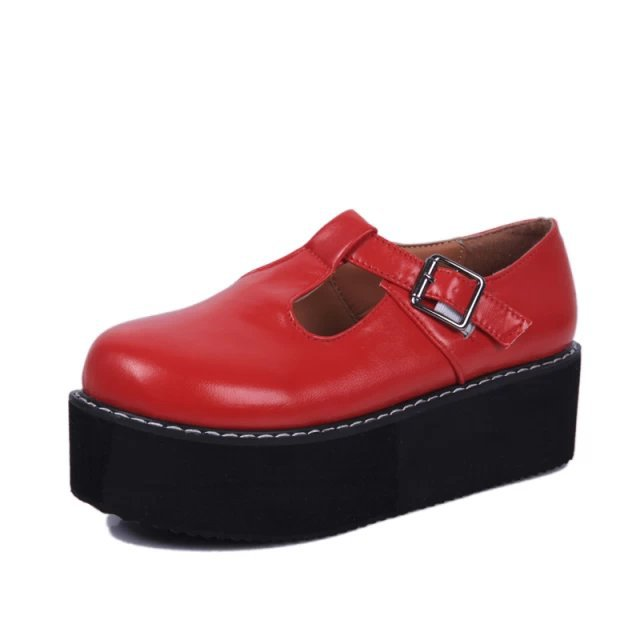 Fashion Brand Womens Creepers Platform Faux Leather Womens Flats Casual Ladies Shoes WHolesales