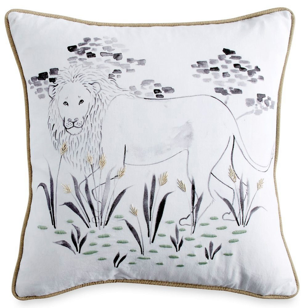 Pillow Sham. Home Bedding For Bedroom Furniture Sham Cushion. With Gentle, Sketched Image Modern Style Pad, Removable Cover On Zipper Closure, Machine Washable In Mint Color. Square Decorative Pillow.