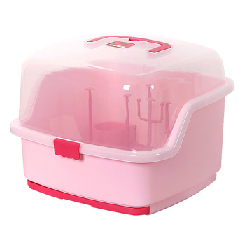 Pink Color Large Baby Bottles Storage Box Drying Rack with Anti-dust Cover Bread Box  sc 1 st  Alibaba & Pink Color Large Baby Bottles Storage Box Drying Rack With Anti-dust Cover Bread Box Tableware Bottle Finishing Boxes - Buy Baby Bottles Storage ...