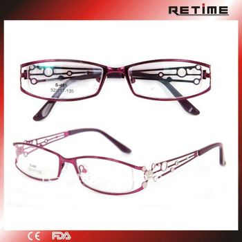 fancy stylish metal eyeglass frame for womens 481 - Womens Metal Eyeglass Frames