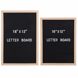 Wholesale 1620 Inch Wooden Frame Felt Letter Board