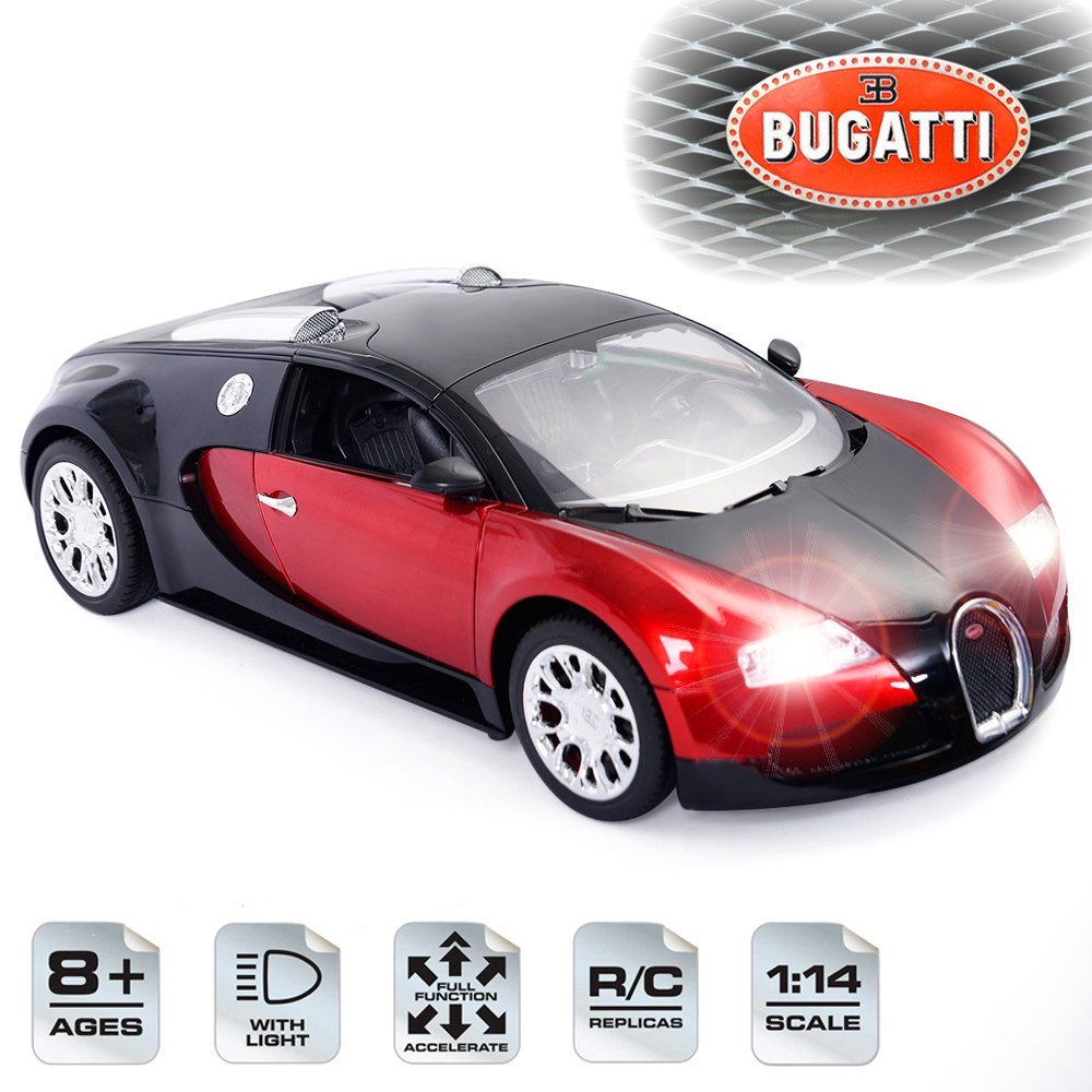 New Licensed Bugatti Veyron 16.4 Grand Sport 1:14 Scale, Radio Remote Control RC Car, Rechargeable NiCd Batteries & Charger Included, RTR, Bright Headlights Rearlights, Detailed Interior Exterior
