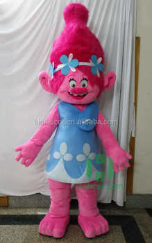 HI CE standard life size kids cartoon character troll costumes mascot : kids cartoon character costumes  - Germanpascual.Com