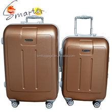 2015 New Design Matt Finished PC ABS Luggage Aluminum Frame