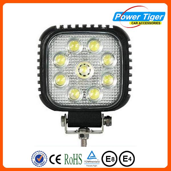 super bright 4x4 led truck light 27w work light 4x4 for truck