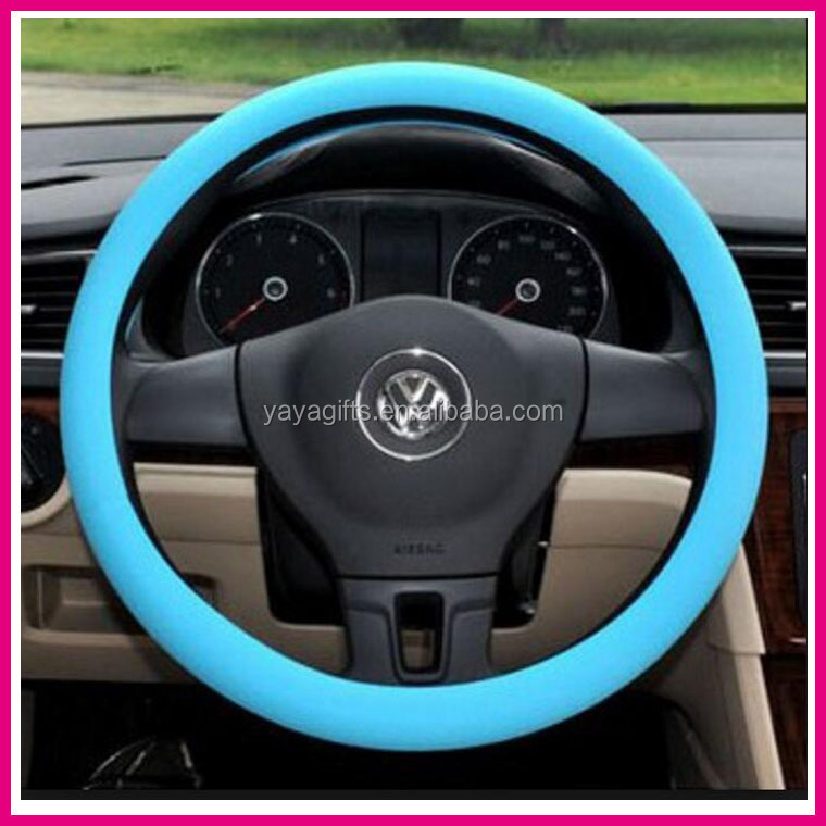 silicone custom steering wheel cover/car silicone steering wheel holder