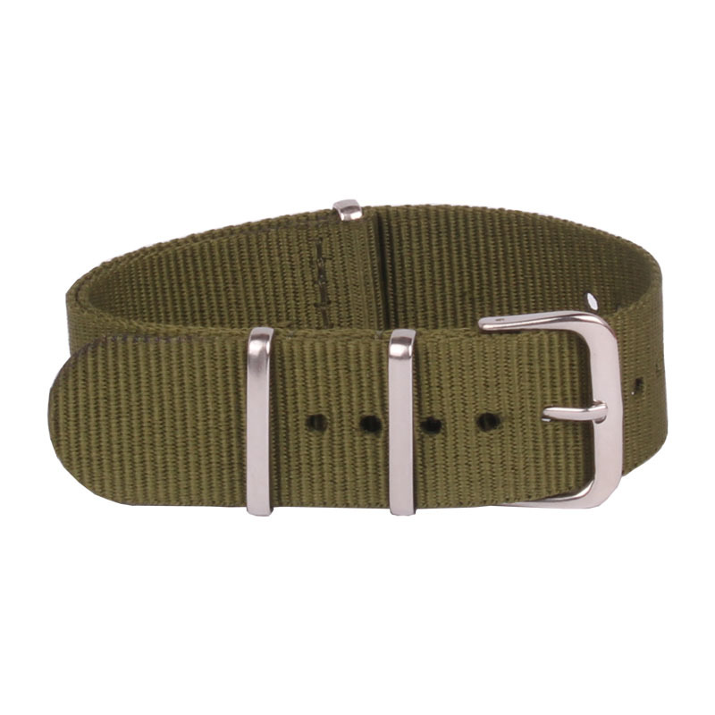 Retro Classic Watch 16 mm bracelet Army Green Military nato fabric Woven Nylon watchband Strap Band Buckle belt 16mm